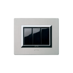 Life Touch series with Vera front plate - natural brushed aluminium
