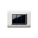 Life Touch series with front plate - moulded natural aluminium
