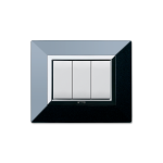 Domus series with personal front plate - Zama polished absolute black