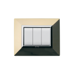 Domus series with personal front plate - polished brass