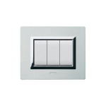 Domus series with personal front plate - Vera natural brushed alluminium
