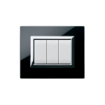 Domus series with personal front plate - Vera clear absolute black