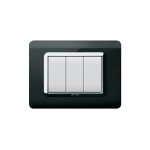 Domus series with personal front plate - moulded Absolute black