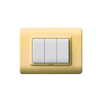 Domus series with personal front plate - moulded polished brass