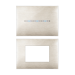 YOUNG front plate - 3D brushed beige