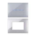 YOUNG front plate - Metallic grey