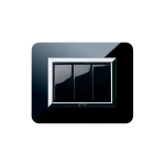 Серия Life Touch с декоративна рамка Zama - полирано чисто черно