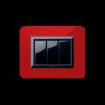 Серия Life Touch с декоративна рамка Zama - червено Помпей