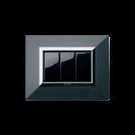 Серия Life Touch с декоративна рамка Zama - тъмно сив металик