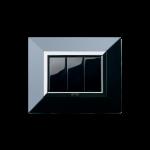 Серия Life Touch с декоративна рамка Zama - чисто черно