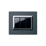 Серия Life Touch с декоративна рамка Vera - тъмен алуминий