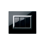 Серия Life Touch с декоративна рамка Vera - чисто черно