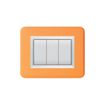 Domus series with personal front plate - bright orange