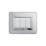Domus series with personal front plate - Natural aluminium