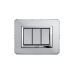 ALLUMIA series with personal front plate - natural aluminium