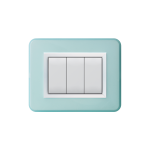 Domus series with personal front plate - Bright light blue