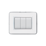 Domus series with personal front plate - RAL 9010 polished white