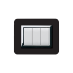 Domus series with personal front plate - Polished absolute black