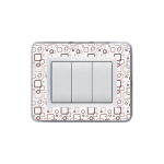 Domus series with personal front plate - Transparent customizable (to assemble)