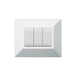 Domus series with personal front plate - Zama micalized polished white