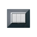 Domus series with personal front plate - Zama metallic dark grey