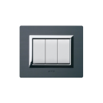 Domus series with personal front plate - Vera anthracite brushed aluminium