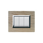 Domus series with personal front plate - Whitened oak