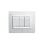 Domus series with personal front plate - Vera clear white