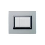 Domus series with personal front plate - Frosted silver grey