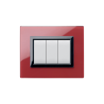 Domus series with personal front plate - Vera clear pompeian red