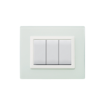 Domus series with personal front plate - Vera frosted water green