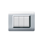 Domus series with personal front plate - moulded natural aluminium