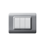 Domus series with personal front plate - moulded matt silver