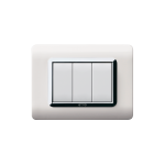 Domus series with personal front plate - moulded RAL 9010 white