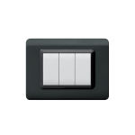 Domus series with personal front plate - moulded polished dark grey